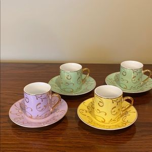Espresso cup set by classic coffee and tea